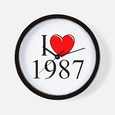 """""""I Love 1987"""" Wall Clock"""