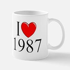 """""""I Love 1987"""" Mug"""