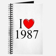 """""""I Love 1987"""" Journal"""
