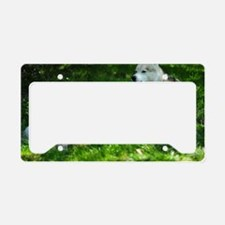 Vanko and puppy Aslak License Plate Holder
