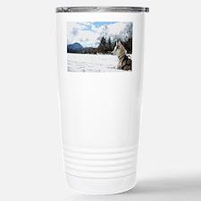 Aslak on snow Stainless Steel Travel Mug
