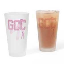 GCC initials, Pink Ribbon, Drinking Glass