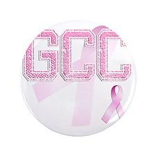"GCC initials, Pink Ribbon, 3.5"" Button"