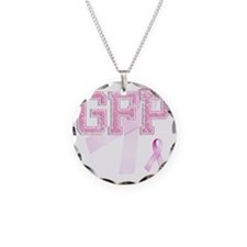 GFP initials, Pink Ribbon, Necklace