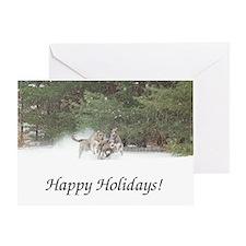 Holiday Irish Wolfhounds Greeting Cards