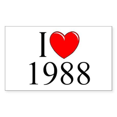 """I Love 1988"" Rectangle Sticker"