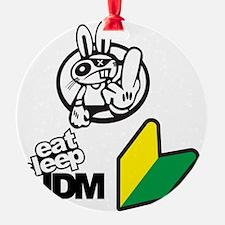 Eat Sleep JDM Bunny Ornament