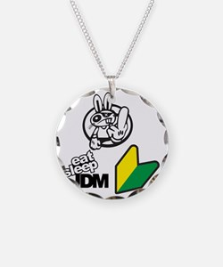 Eat Sleep JDM Bunny Necklace