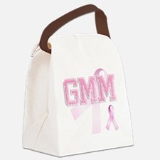 GMM initials, Pink Ribbon, Canvas Lunch Bag