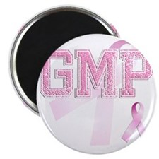 GMP initials, Pink Ribbon, Magnet