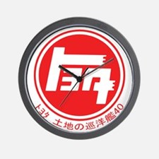 TEQ LandCruiser 40 logo red Wall Clock