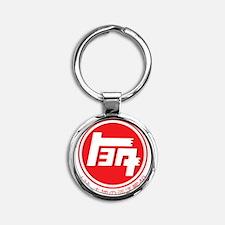 TEQ LandCruiser 40 logo red Round Keychain