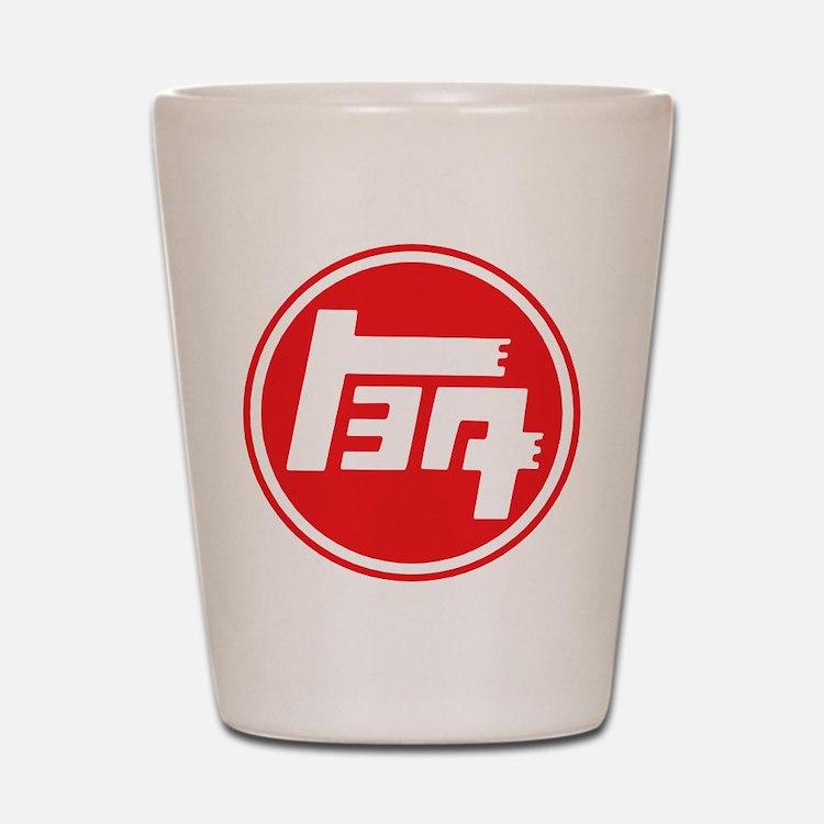 TEQ logo red large Shot Glass