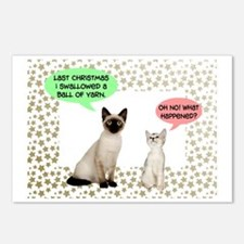 Christmas Cat Yarn Postcards (Package of 8)