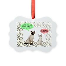 Christmas Cat Yarn Ornament