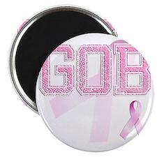 GOB initials, Pink Ribbon, Magnet