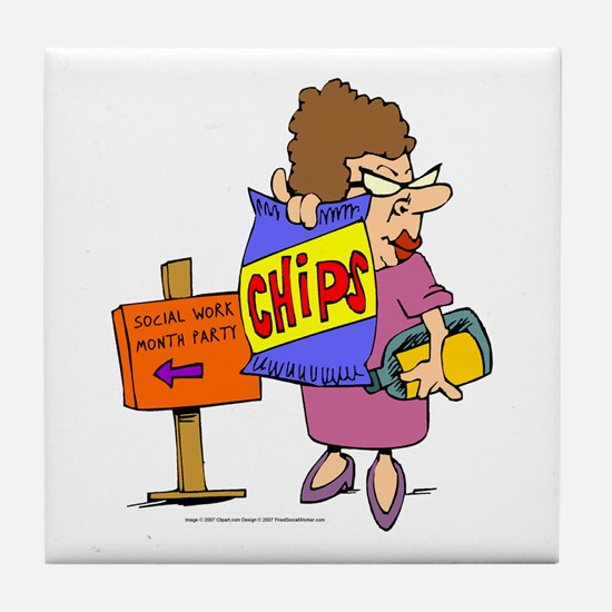 SWM Chip Lady Tile Coaster