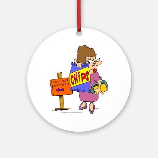 SWM Chip Lady Ornament (Round)