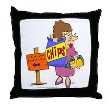 SWM Chip Lady Throw Pillow