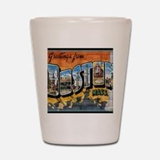 Greetings from Boston Shot Glass