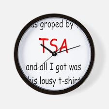 lousy TSA t-shirt Wall Clock