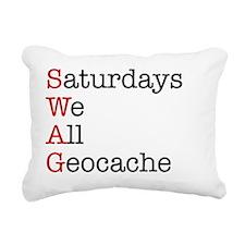 Saturdays tshirt Rectangular Canvas Pillow