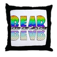 BEAR-RAINBOW/MIRROR/BRICK2 Throw Pillow