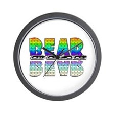 BEAR-RAINBOW/MIRROR/BRICK2 Wall Clock