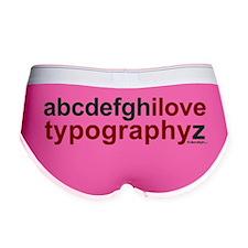 ABC I Love Typography Z Women's Boy Brief