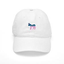 ::: Democratic Donkey Pink/Blue ::: Baseball Cap