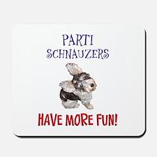 Parti Schnauzers 1.0 Mousepad