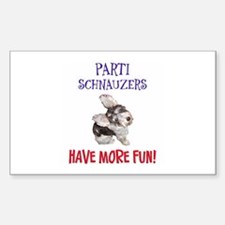 Parti Schnauzers 1.0 Rectangle Decal