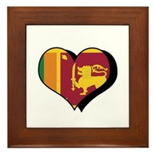 I Love Sri Lanka Framed Tile
