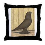 Brown Self West Throw Pillow