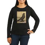 Brown Self West Women's Long Sleeve Dark T-Shirt
