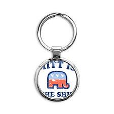 Mitt is the Shit Round Keychain