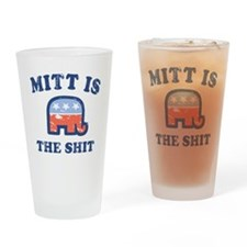 Mitt is the Shit Drinking Glass