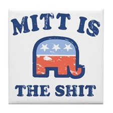 Mitt is the Shit Tile Coaster
