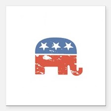 """Mitt is the Shit Square Car Magnet 3"""" x 3"""""""