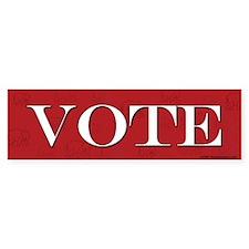 Vote Red Bumper Bumper Sticker