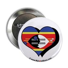 """I Love Swaziland 2.25"""" Button (100 pack)"""