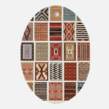 Art of Navajo Weaving Oval Ornament
