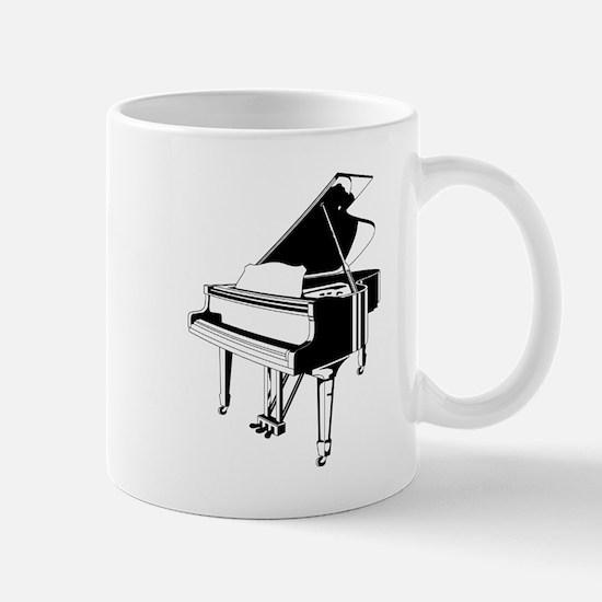 Black And White Piano Mugs