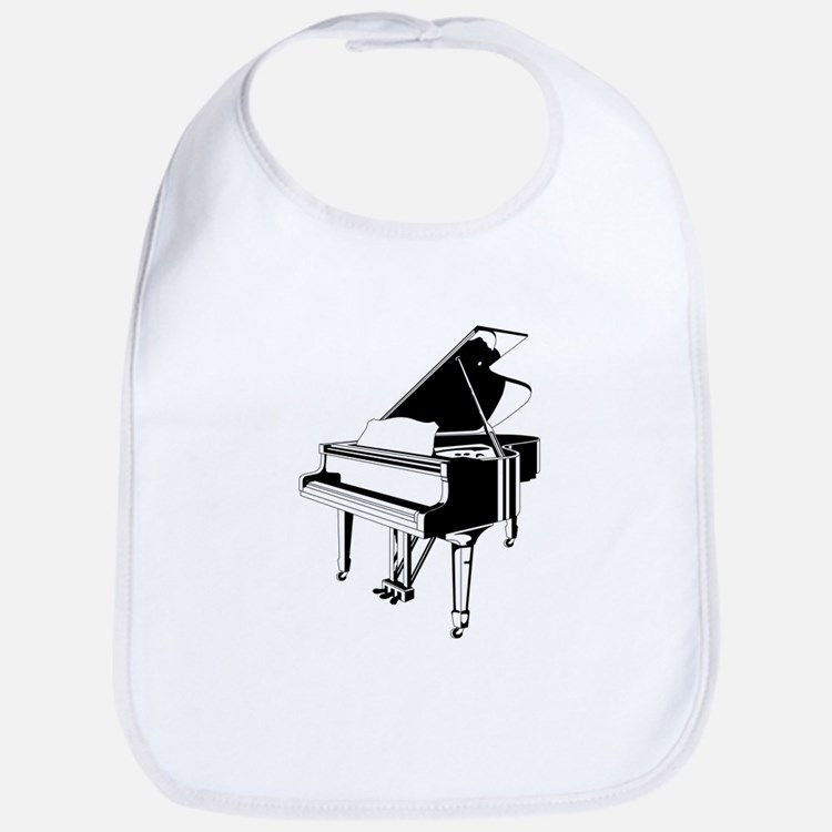 Black And White Piano Bib