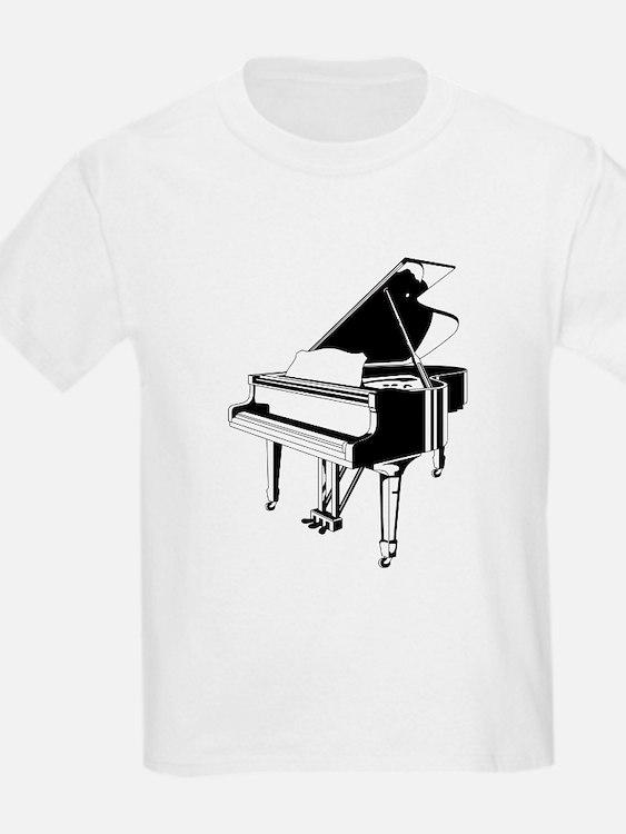 Black And White Piano T-Shirt