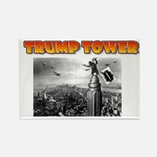 KING KONG - TRUMP TOWER - PARODY Rectangle Magnet