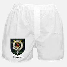 Gordon Clan Crest Tartan Boxer Shorts