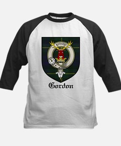 Gordon Clan Crest Tartan Kids Baseball Jersey
