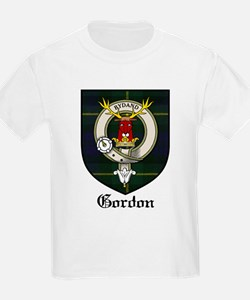 Gordon Clan Crest Tartan Kids T-Shirt
