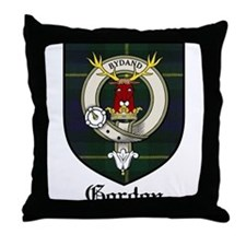Gordon Clan Crest Tartan Throw Pillow